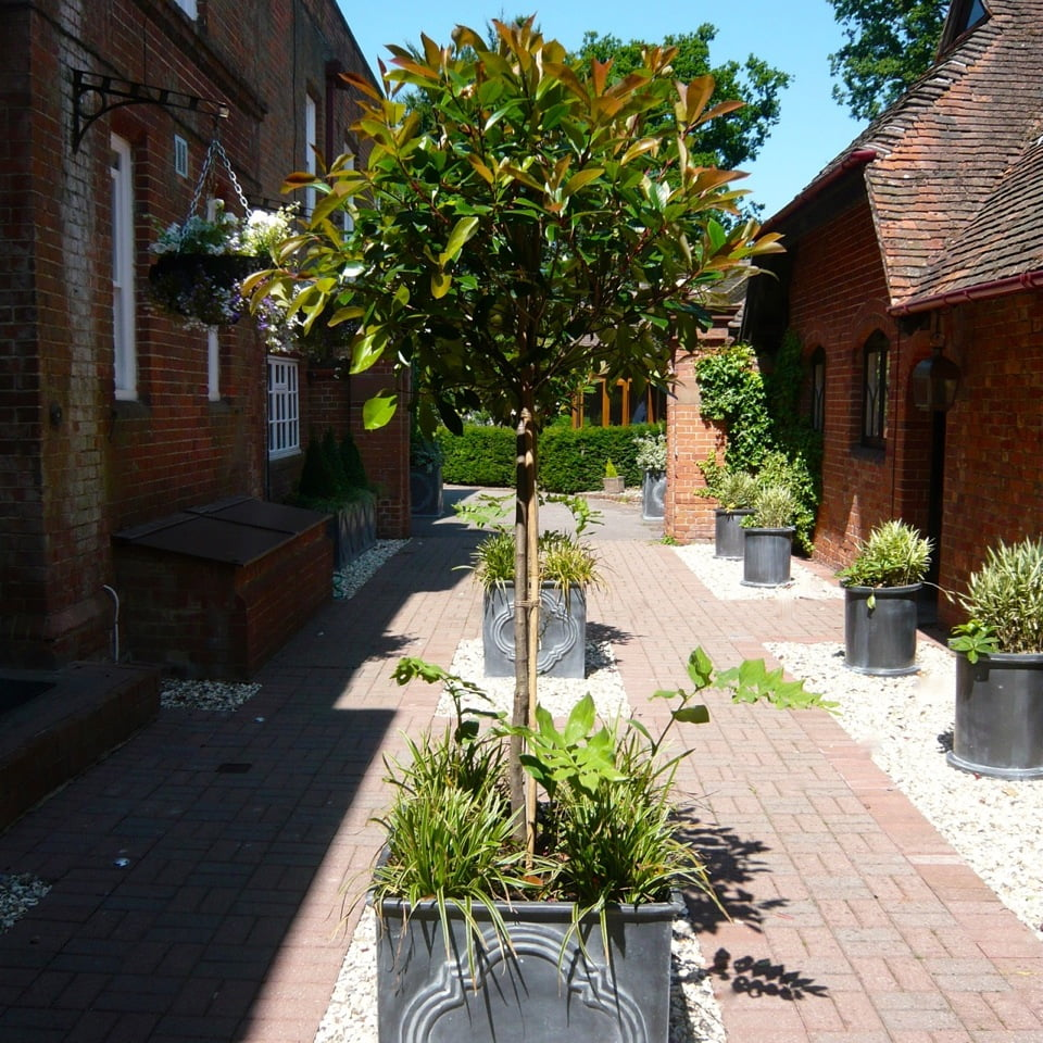 This s part of the shared courtyard of a large country house in berkshire
