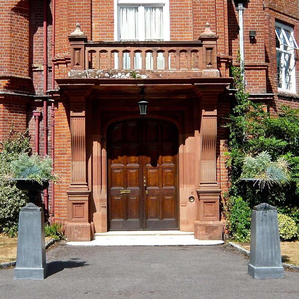 A grand entrance with smart lead planters by Capital Garden Products
