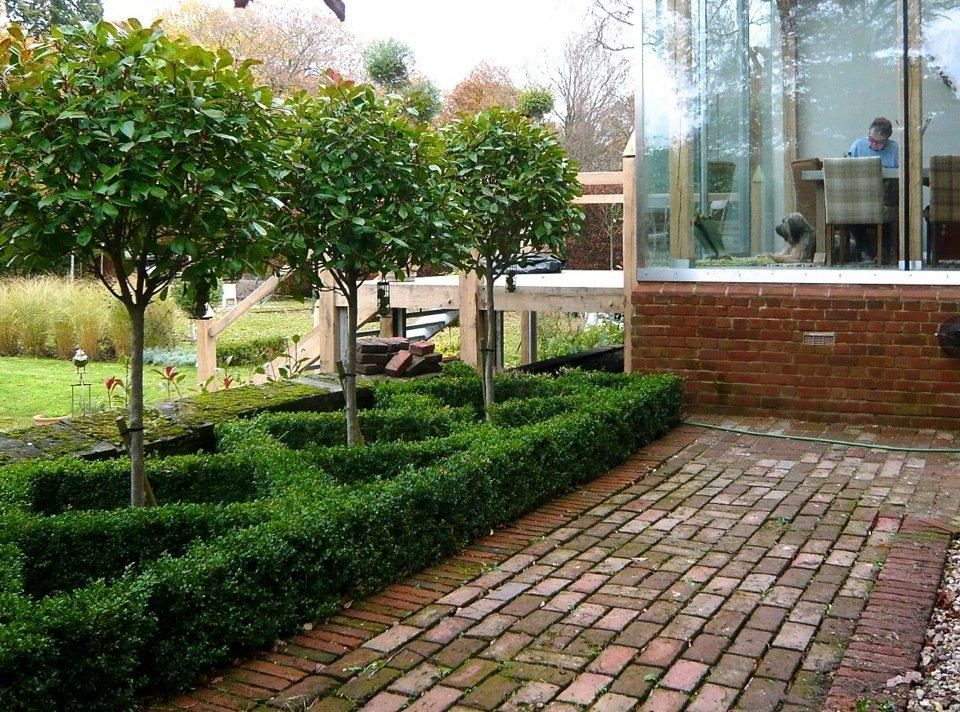 Small Formal Knot Garden In A Courtyard By Jo Alderson
