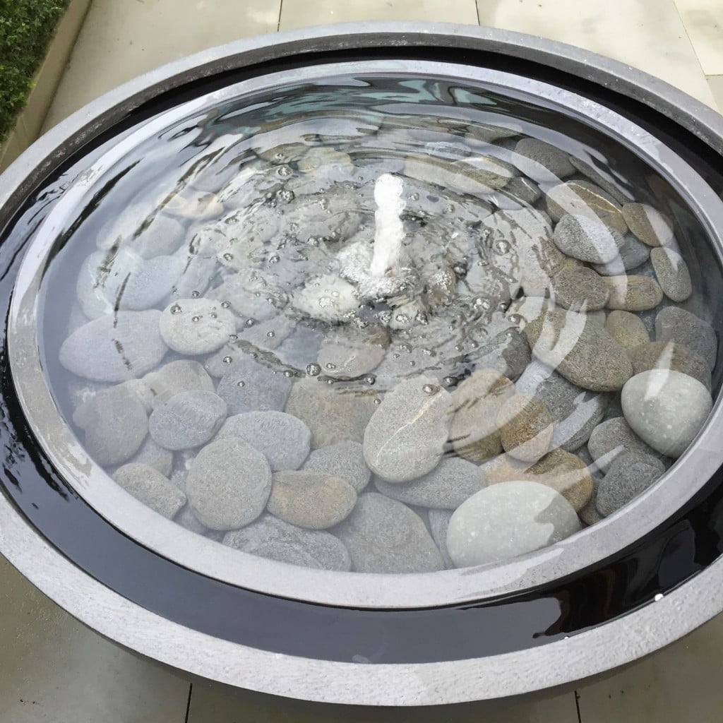 This is a large water bowl water feature in our own courtyard garden here in newbury