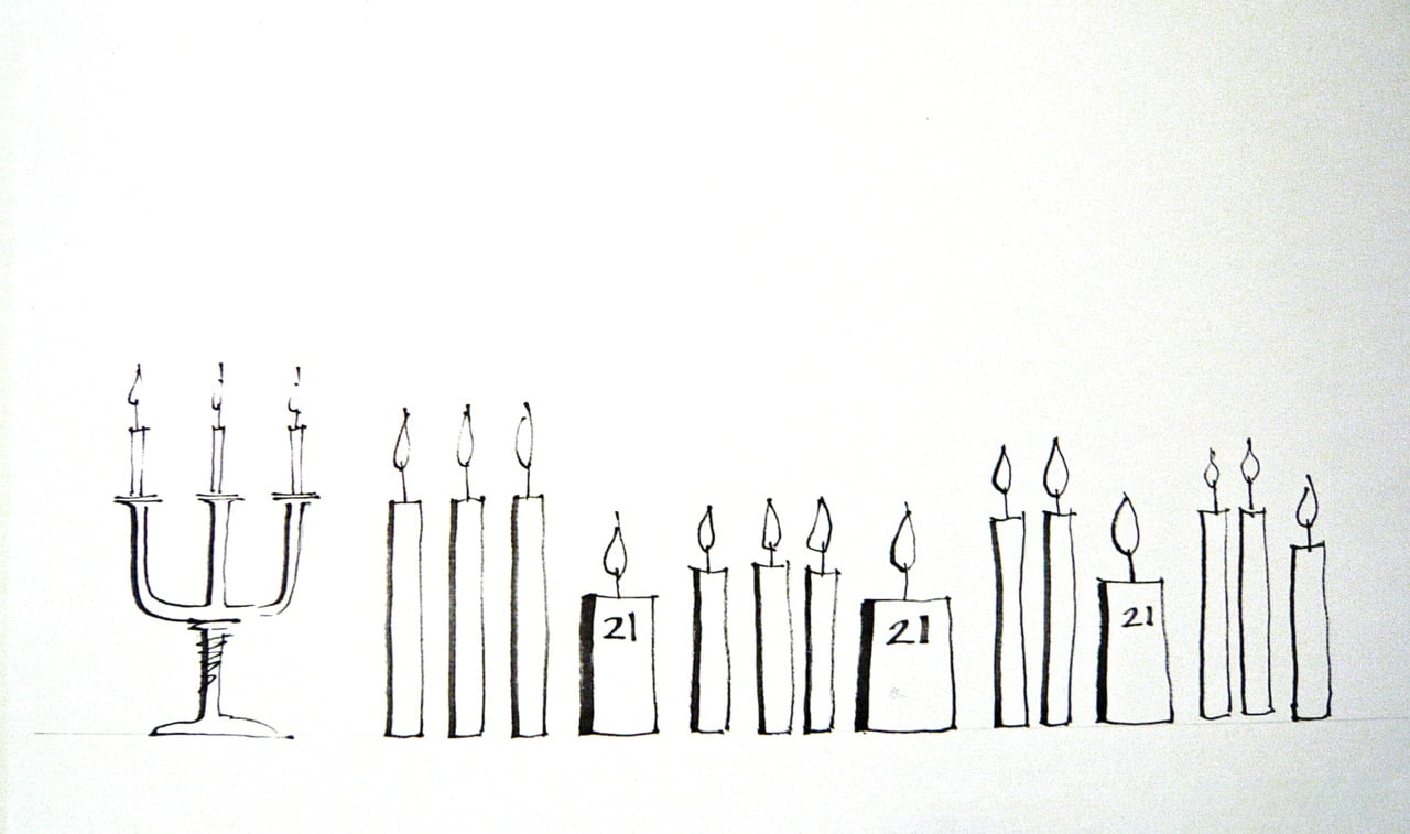 My little drawing wishing The Garden Design Co Ltd a happy 21st birthday. Lots of candles to blow out!