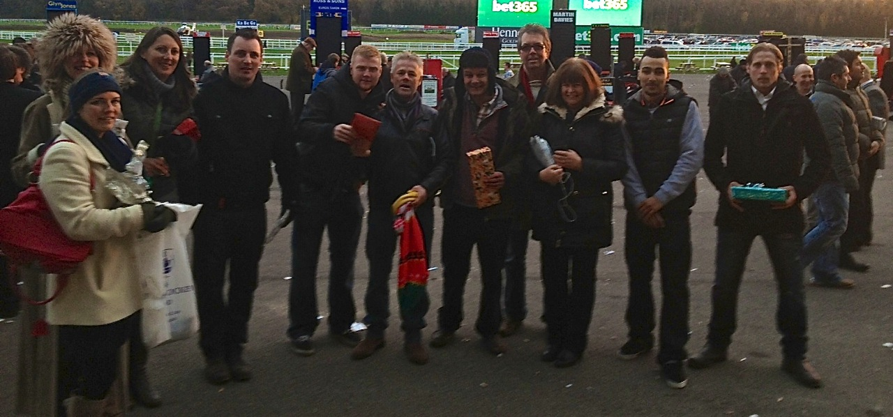 Team Rob at the races
