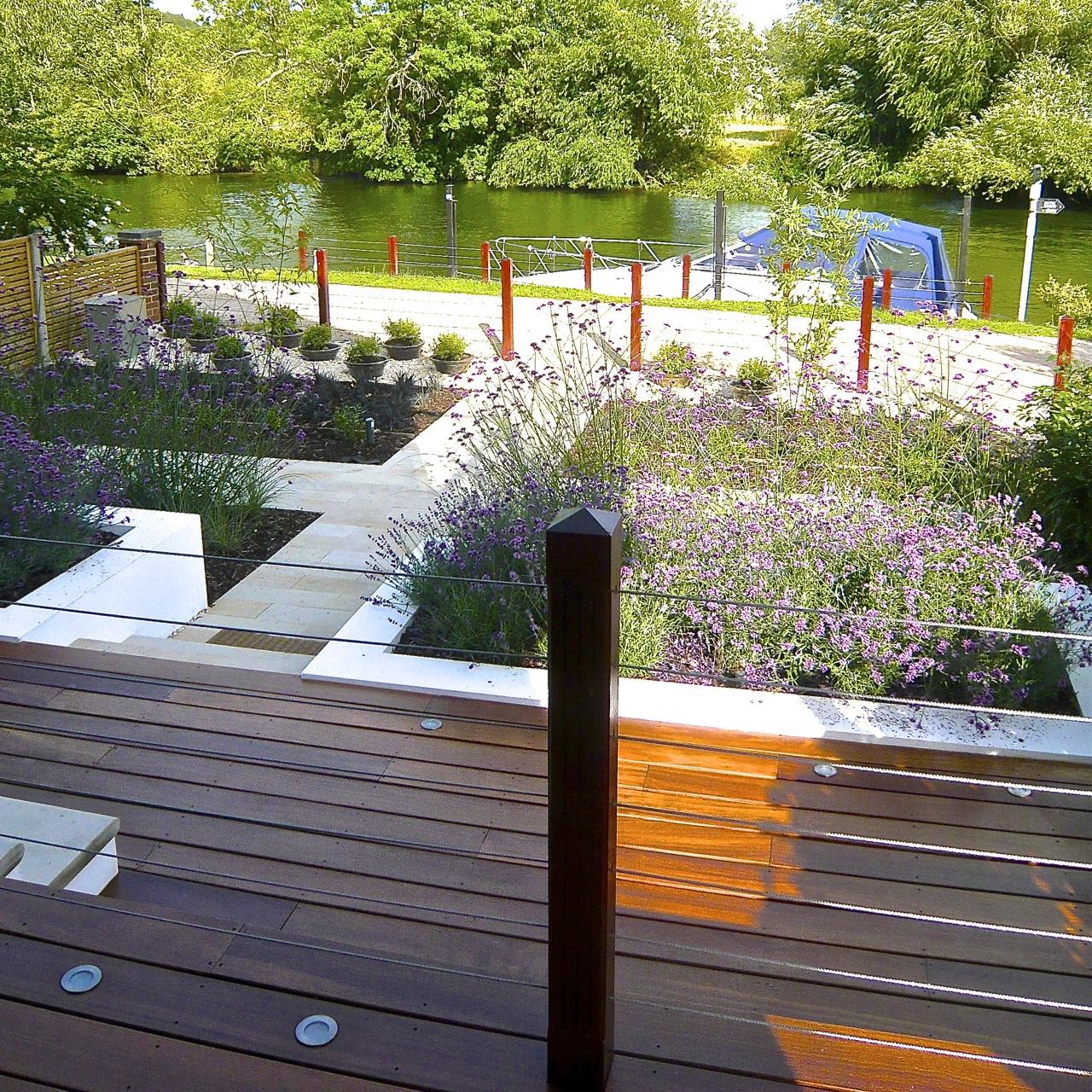 Purley on thames riverside garden by www.joannealderson.com