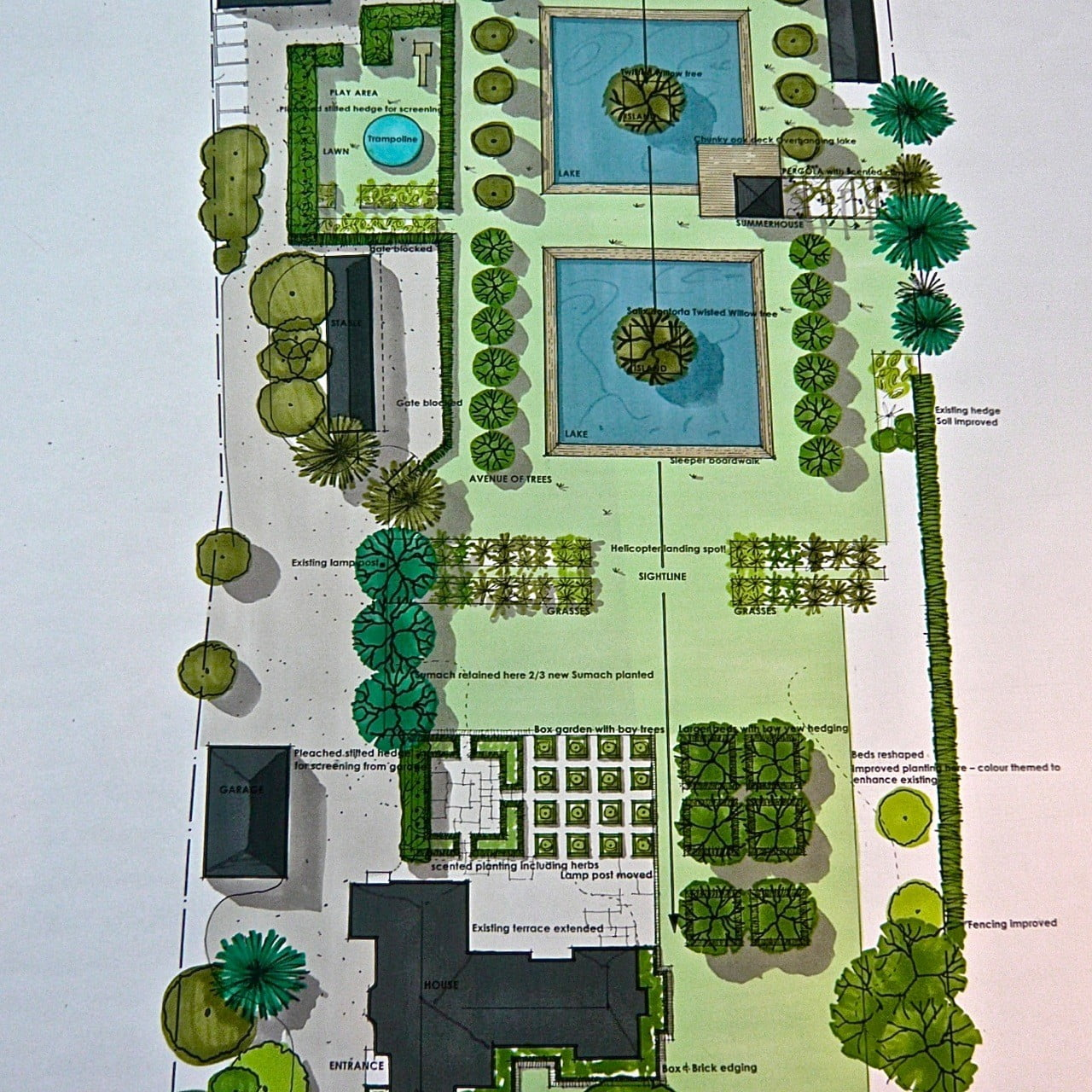 This is the plan for this large garden in Berkshire
