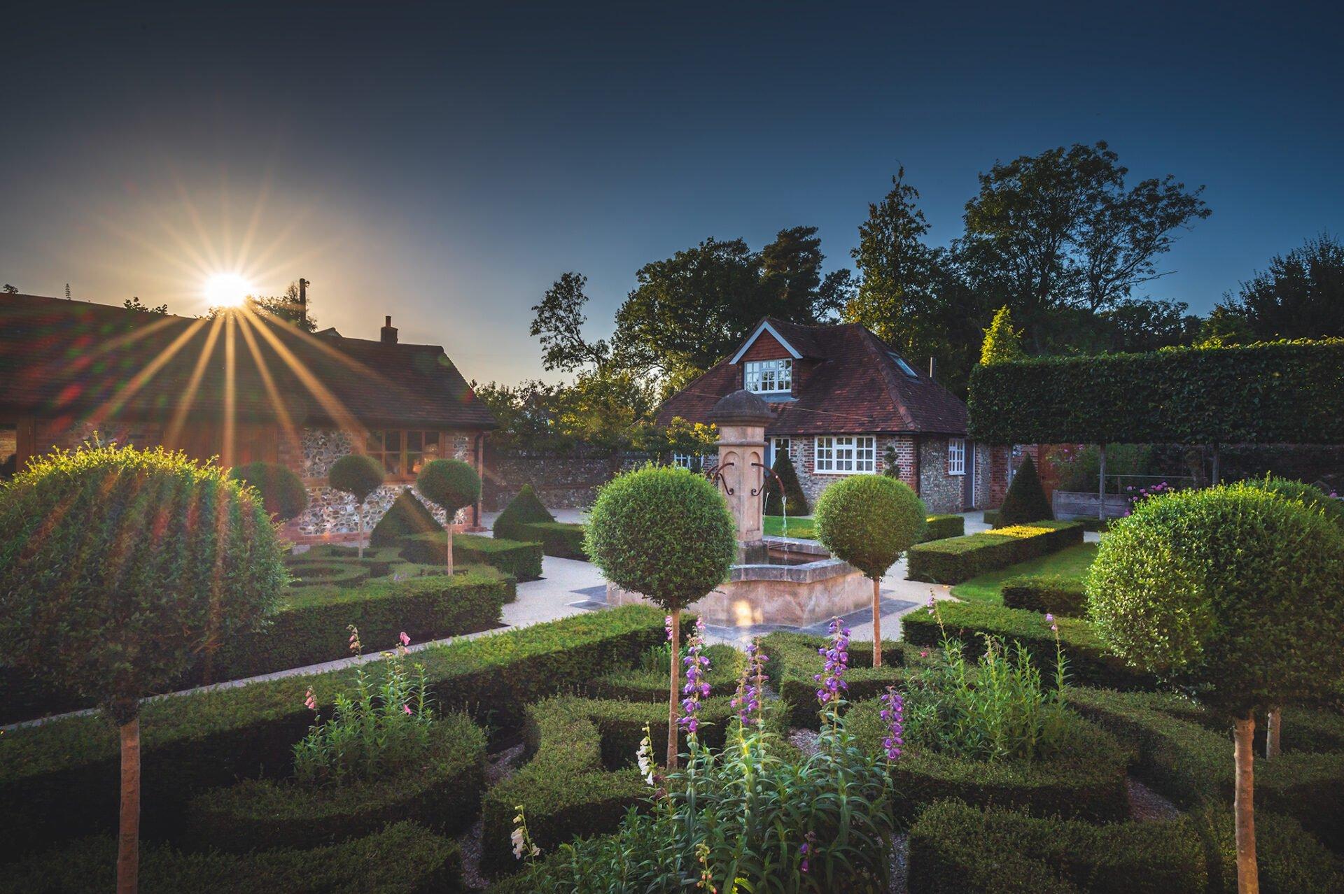 Walled garden with parterre by Jo Alderson Phillips