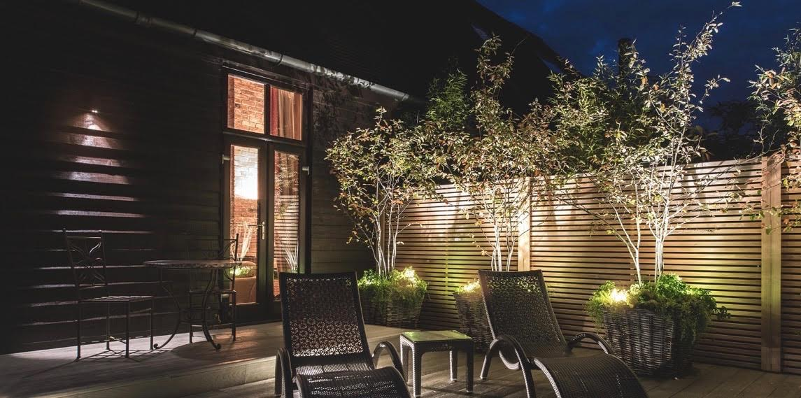 This is a contemporary garden at a barn conversion I designed
