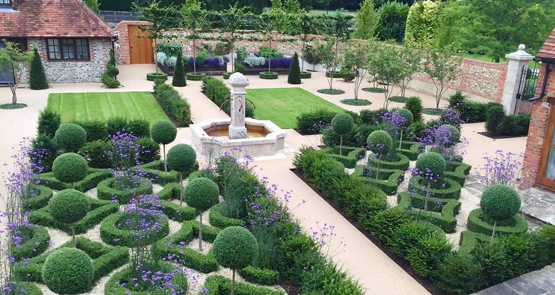 I designed this French styled walled garden for my clients near Henley on Thames
