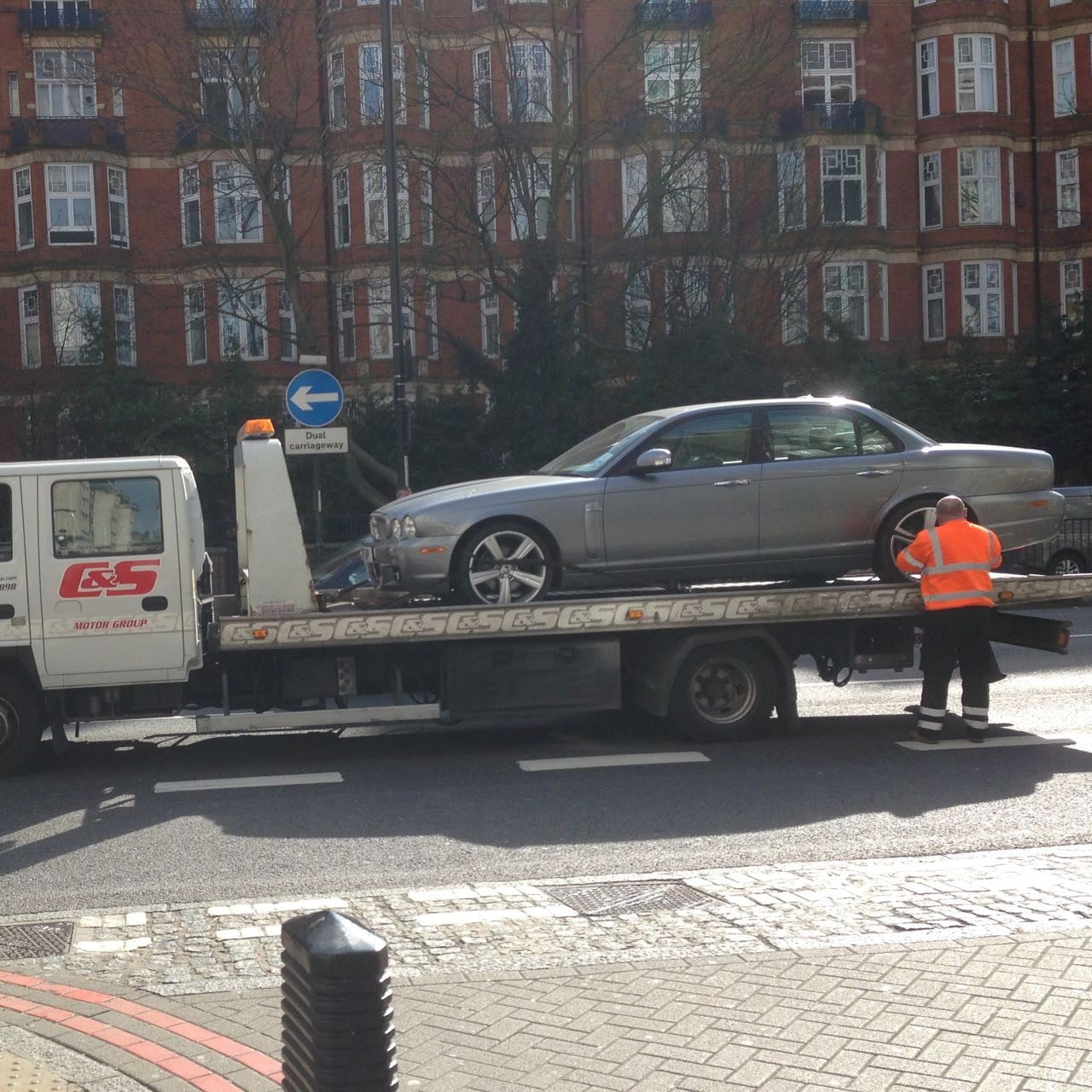 This is my car that was sadly taken ill whilst we were visiting clients in London. Thankfully it's all better now!