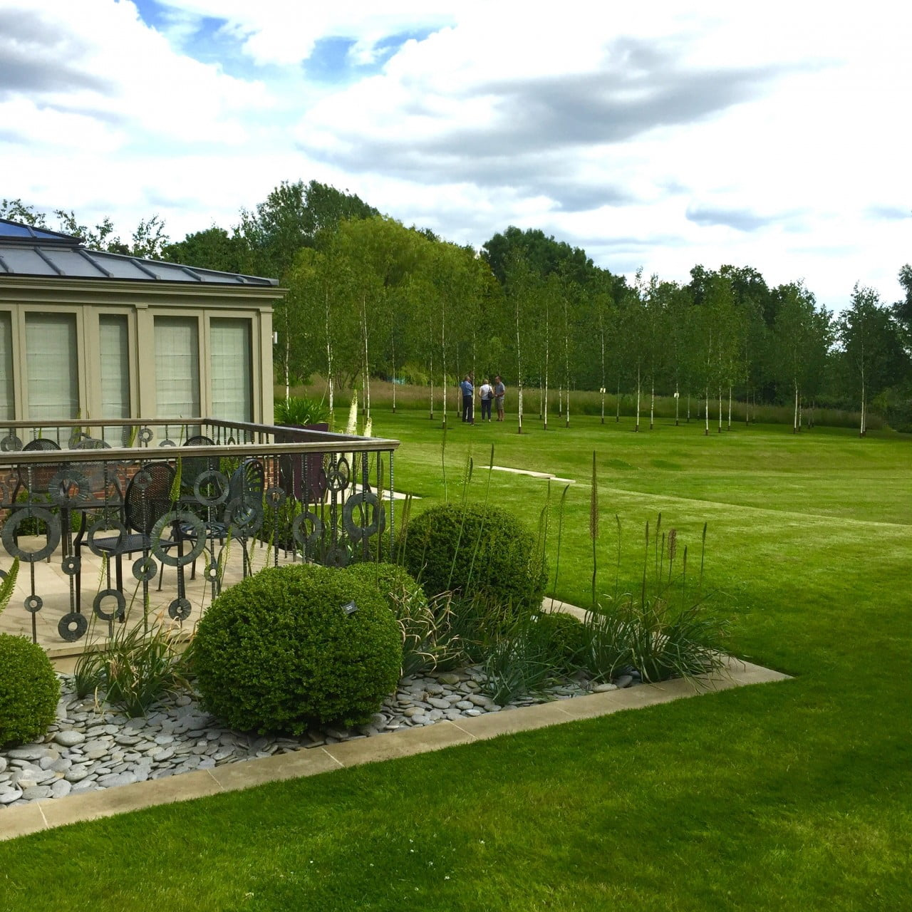 This is the large garden in Buckinghamshire I designed on the day of the Open Garden Scheme. Luckily the sun shone!