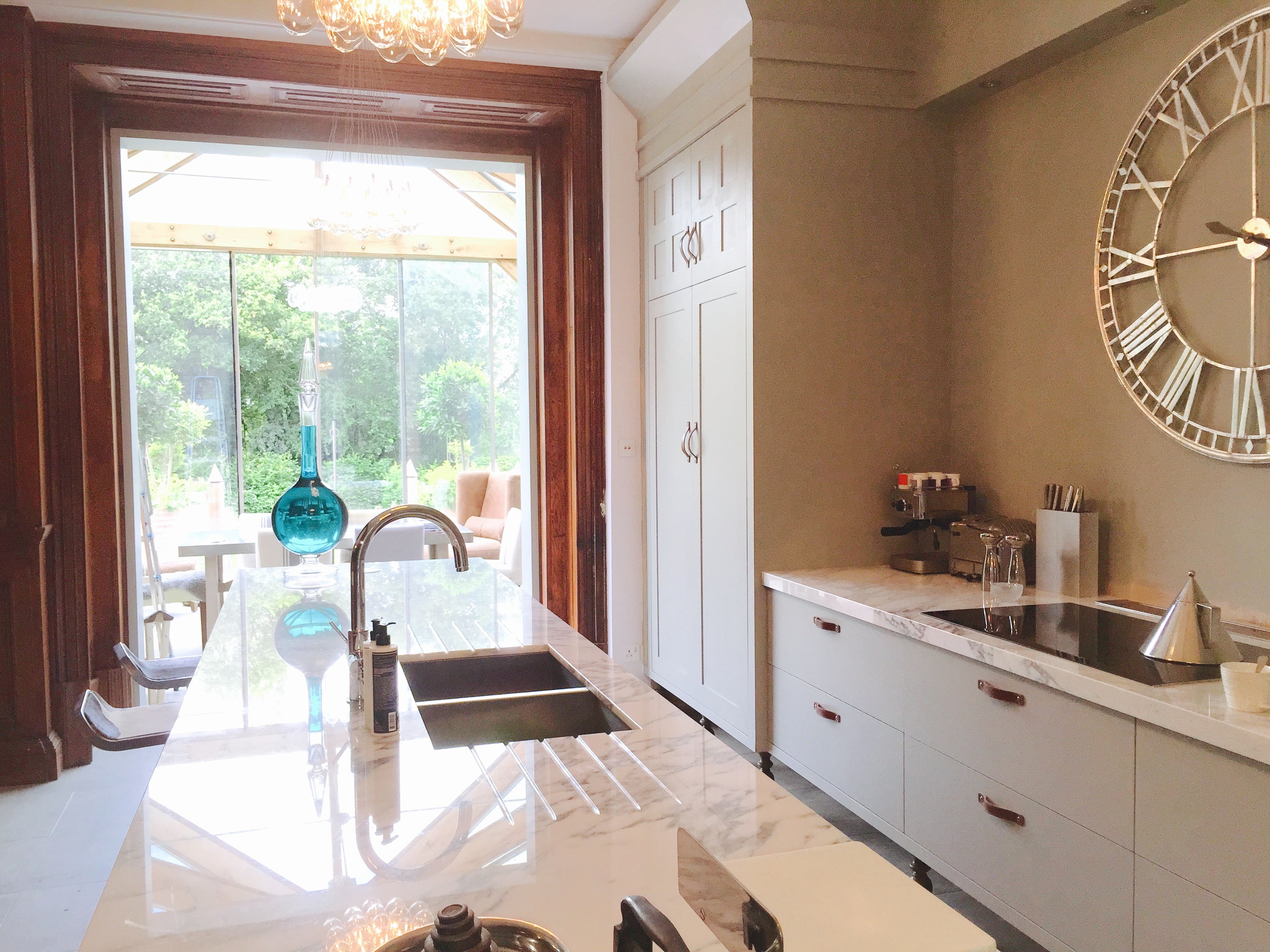 New kitchen with marble tops by Jo Alderson Phillips