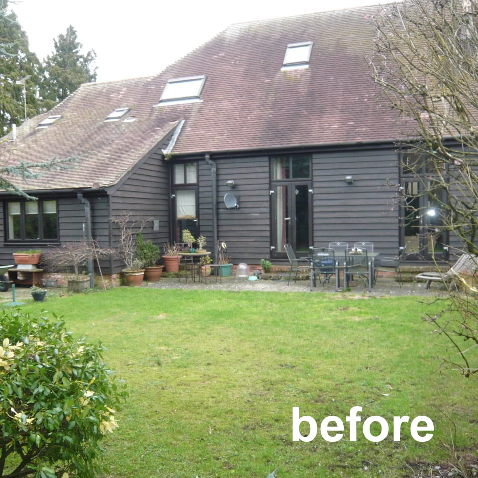 before picture of the barn conversion