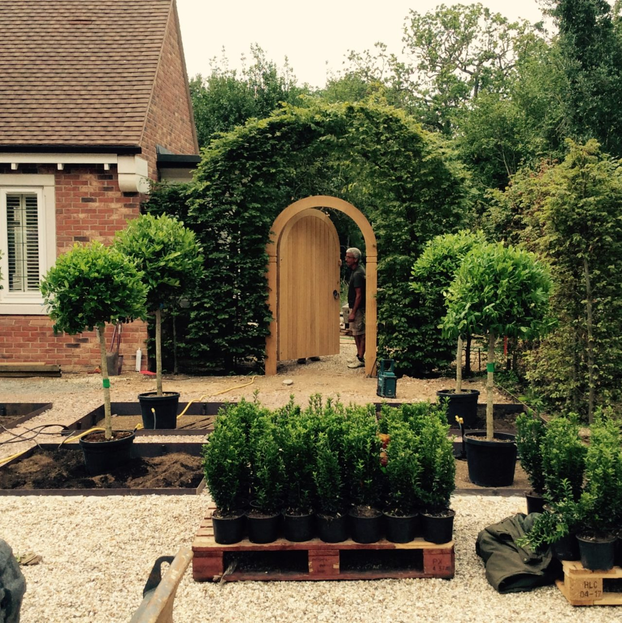This is a formal front garden for my clients near Finchampstead