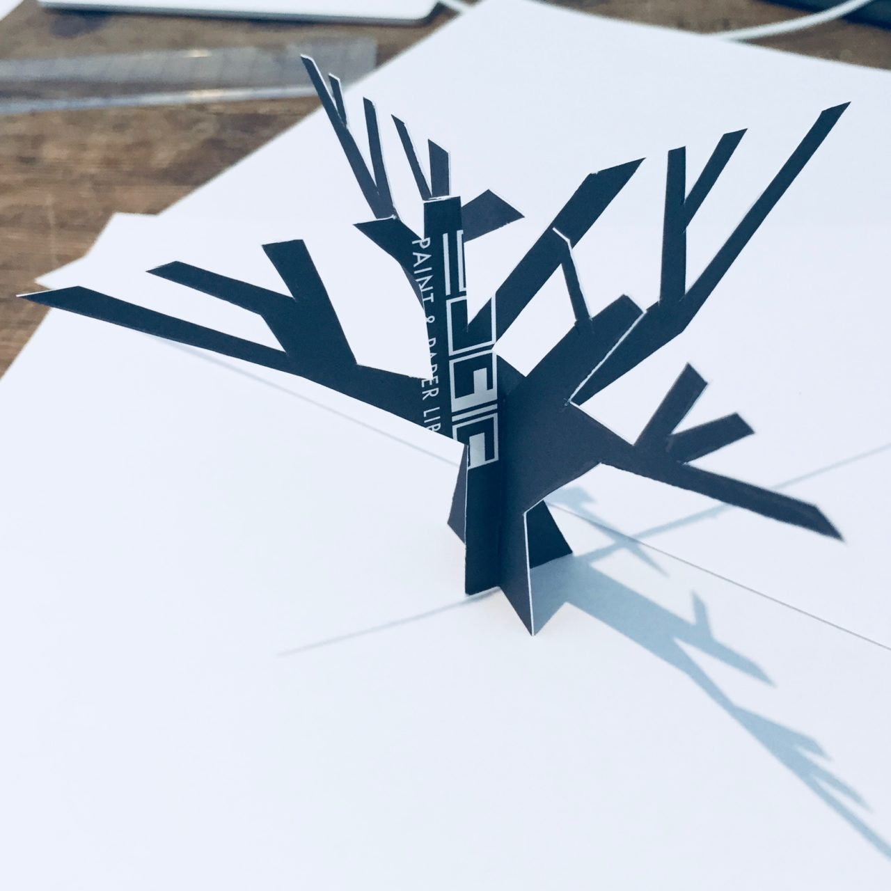 This is a first attempt cardboard maquette for a steel tree in one of my clients gardens. There's more to being a garden designer than you might think!