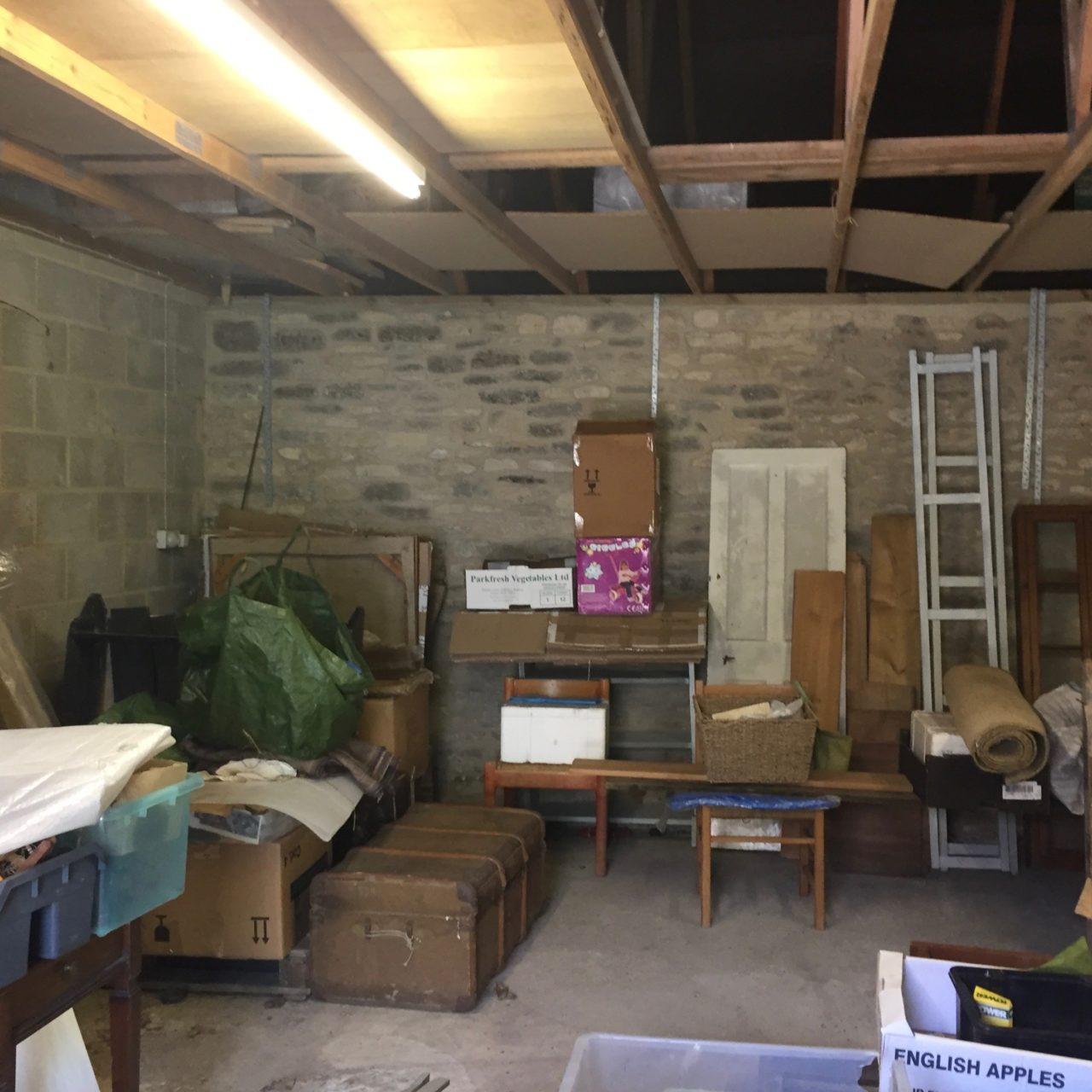 the original interior of the garage