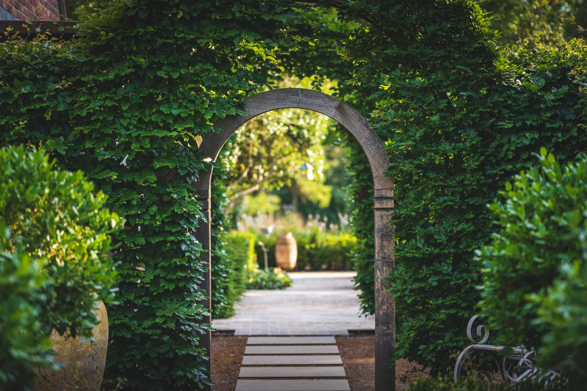 A beautiful entrance to the garden at Pye Hill House