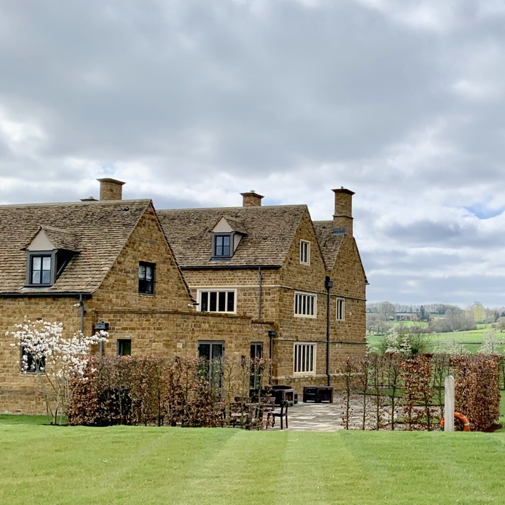 Cotswold fsarm house with garden designed by Jo Alderson Phillips