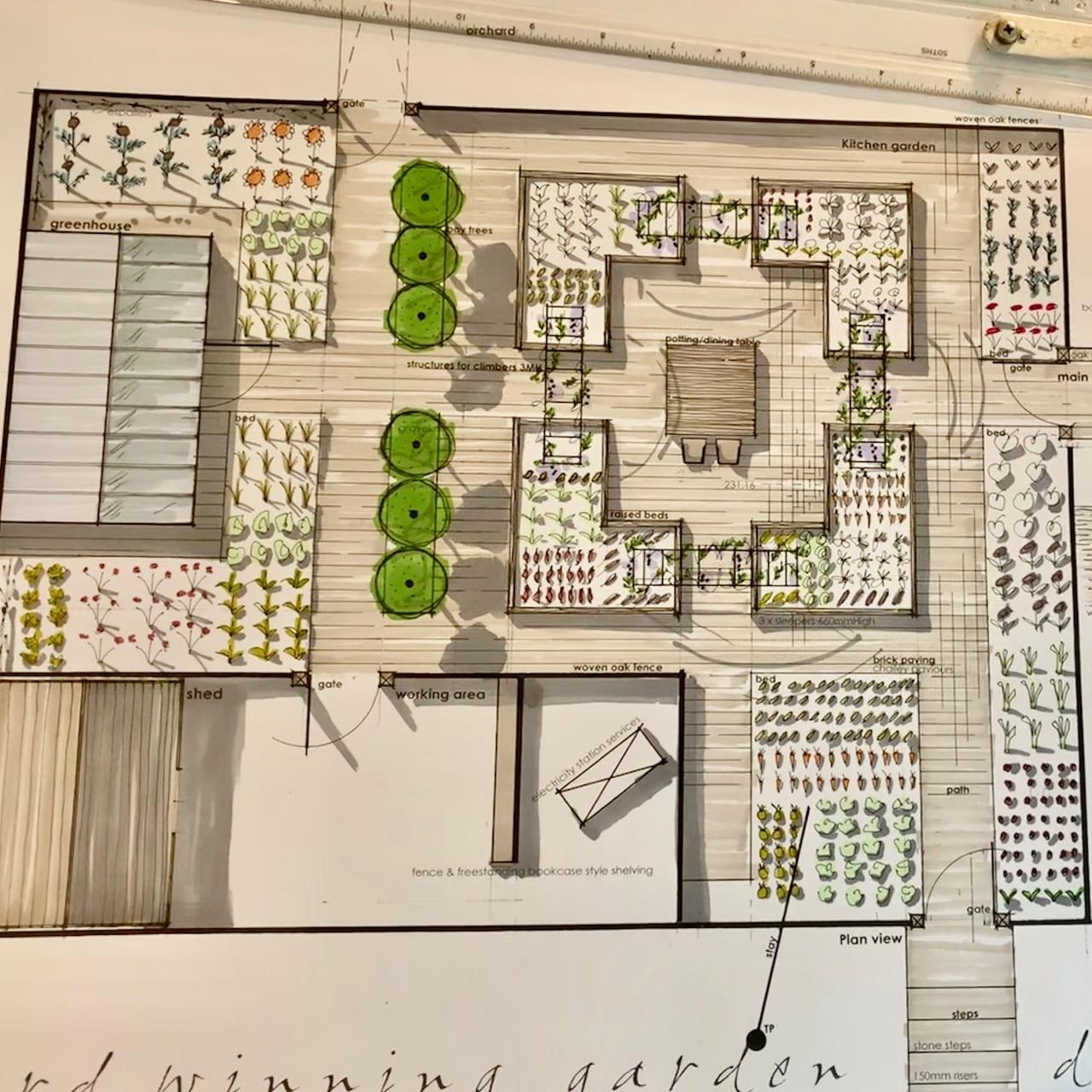 Kitchen garden by Jo Alderson Design